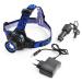 Акумуляторний ліхтарик на голову світлодіодний 1LED (4 режиму зарядка 220/12V zoom, рег. нахил 90)