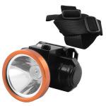 Акумуляторний ліхтарик на голову світлодіодний 1LED (2 режима, зарядка USB, ремінець) реєстр. нахил 90градусов) Yajia
