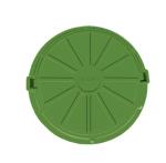 Люк канализ. п/п тип легкий (4,5т) зеленый (пешоходный) (d max=750. d=620) В