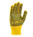 Рукавиці жовті, з чорною точкою ПВХ, 7 клас ПЕ-60%/ХБ-40% 10 розмір БУДІВЕЛЬНИК