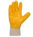 Рукавички масло-бензостойкі нітрилові жовті, основа бавовна, манжет в'язаний, гладкі, неповний облив 10 розмір
