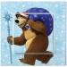 Вимикач 1-клавішний білий Viko KARRE Ведмідь з подарунками