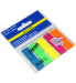 Закладки пластиковые NEON, JOBMAX, с клейким слоем, 45x12 мм, 5 цв. по 20 л.  (48 шт./уп.)